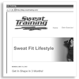 Sweat Training Social Media